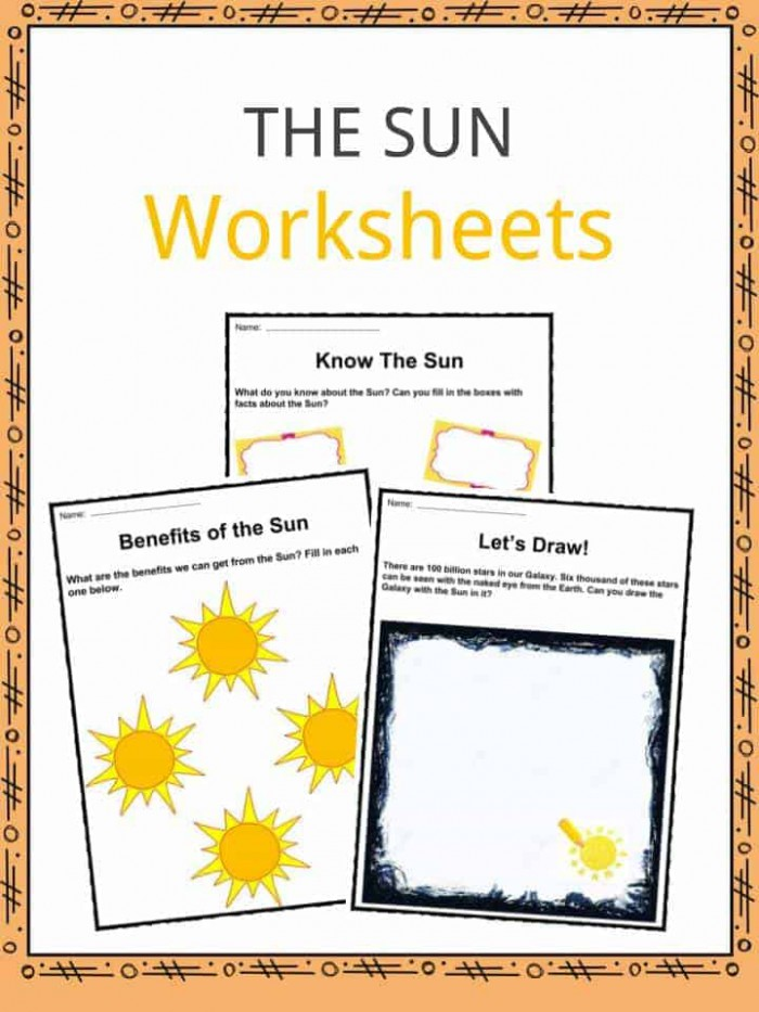 The Sun Facts  Worksheets   Key Information For Kids