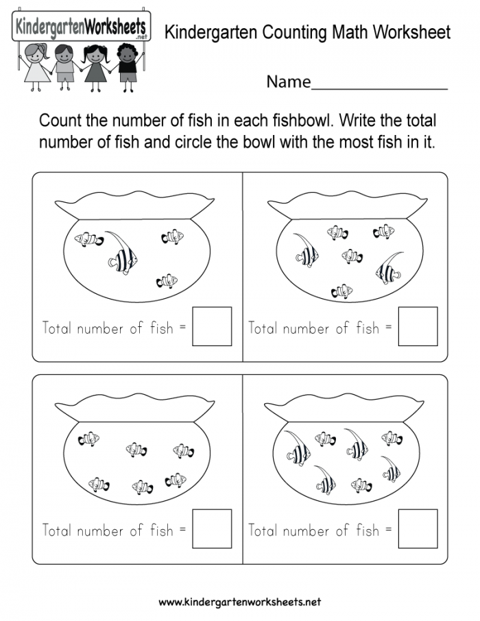 Fishy Counting Worksheets 99Worksheets