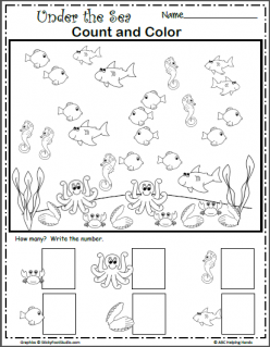 Under The Sea: Color The Sea Creatures