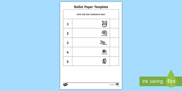 Vote Slips Teacher Made