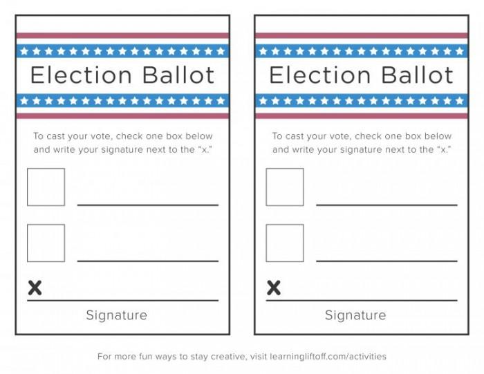 Voting Printables For Kids