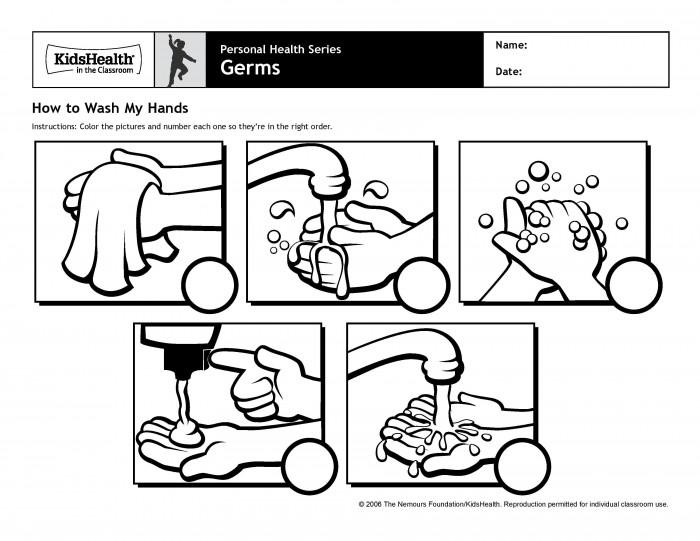 Washing Hands Worksheets Printable