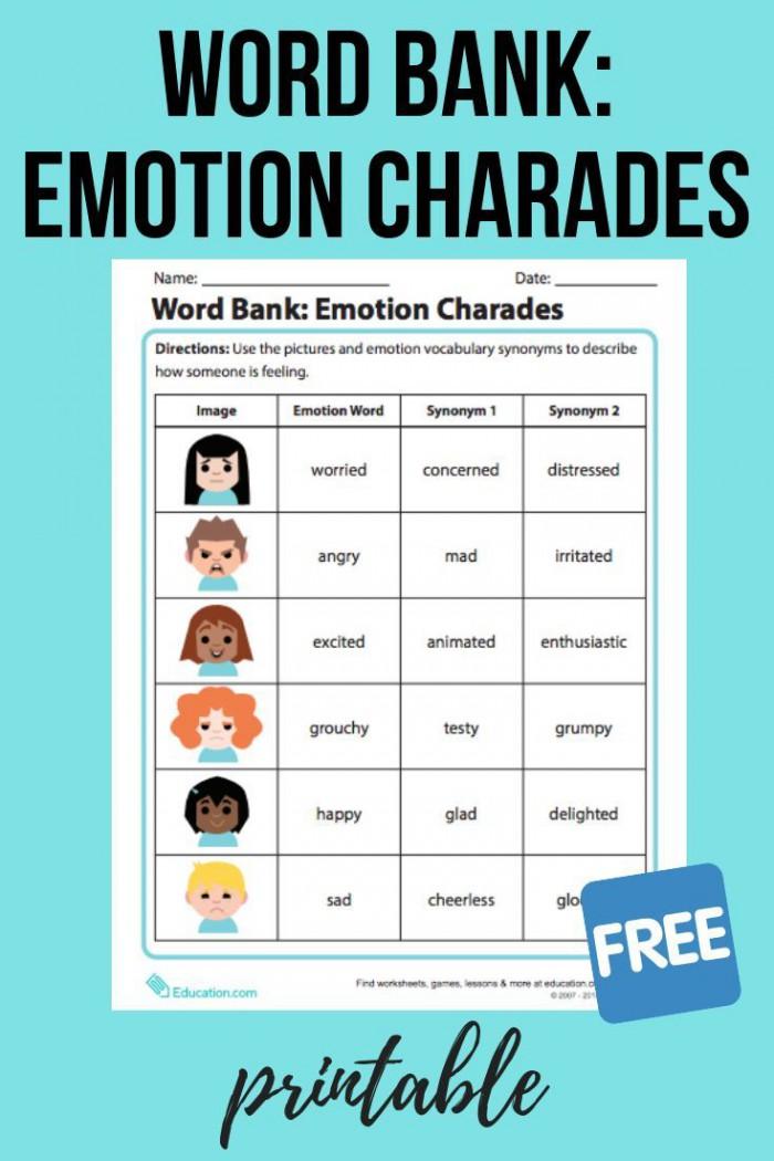 Word Bank Emotion Charades