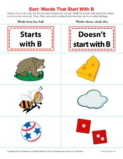 Words Starting With B