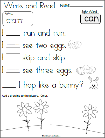 Write And Read Sight Word