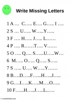 Write The Missing Letter: Numbers