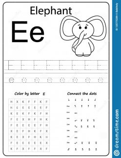 Writing The Letter E