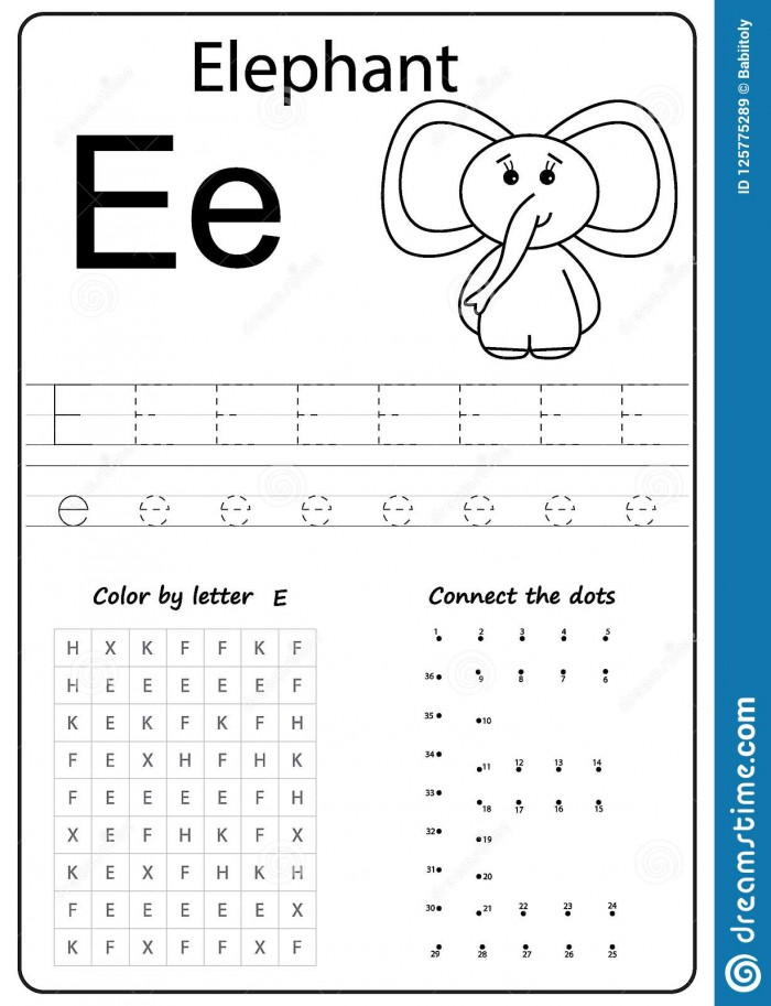 Writing Letter E Worksheet Writing A