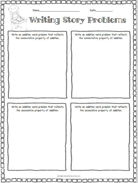 Writing Story Problems With The Properties Of Addition Free