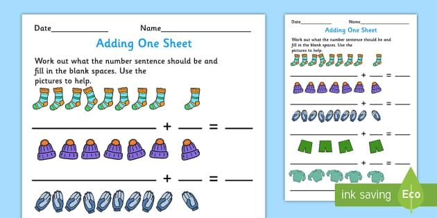 Adding  Worksheet Teacher Made