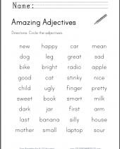 amazing adjectives worksheet 8