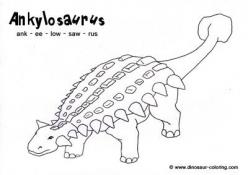 Color The Dinosaur: Ankylosaurus