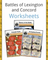 battles of lexington and concord facts  worksheets   history for kids 2