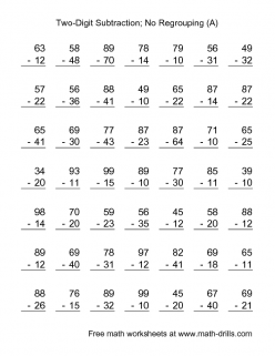 Practice Test: Two-Digit Addition And Subtraction
