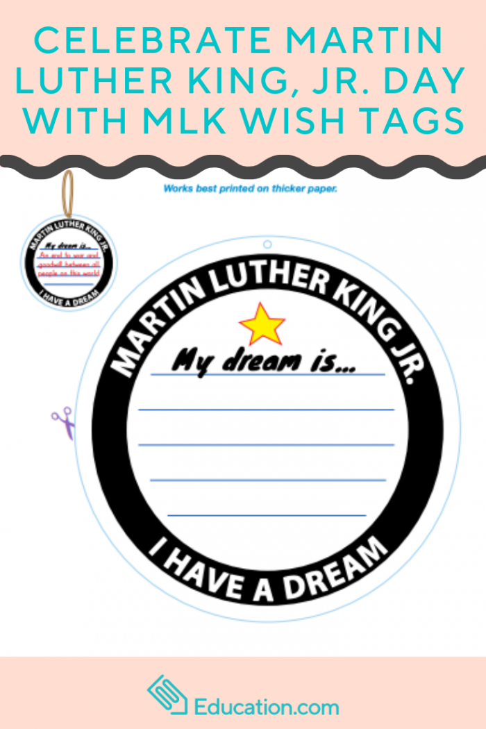 Celebrate Martin Luther King  Jr Day With Mlk Wish Tags