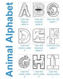 My Animal Alphabet Chart