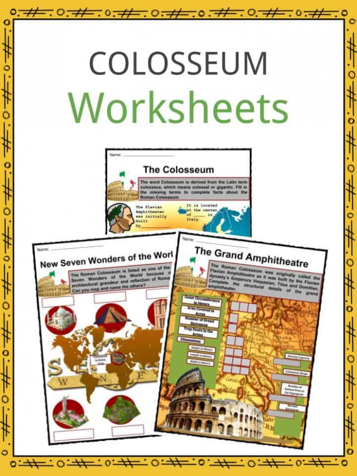 Colosseum Facts  Worksheets  History   Roman Empire For Kids