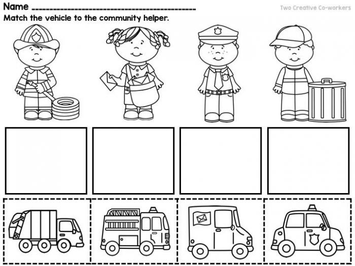 Community Workers  My School Community Helpers  Printable Books