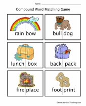 compound words matching worksheet 9
