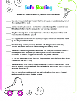 Story Sequencing: Roller Skating