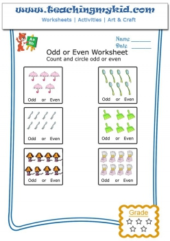 Counting Numbers: Odd And Even