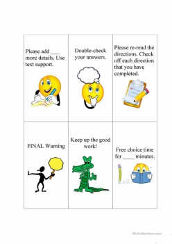 Communication Cards For Young Children