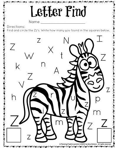 Find The Letters Z Worksheets 99worksheets
