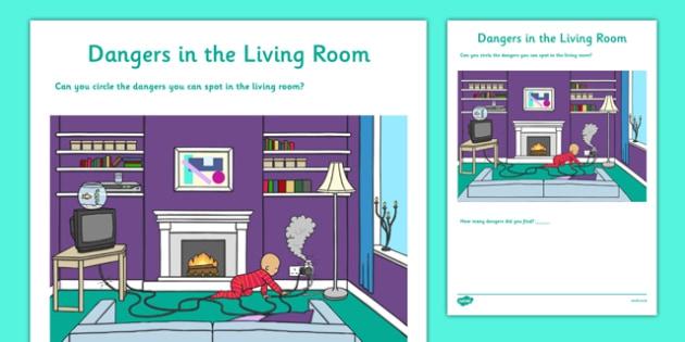 Dangers In The Living Room Worksheet  Worksheet