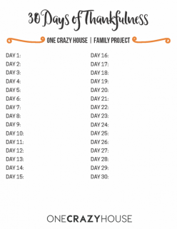 days of thankfulness 9