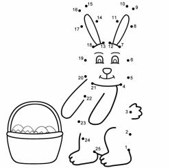 Dot-To-Dot Easter Bunny