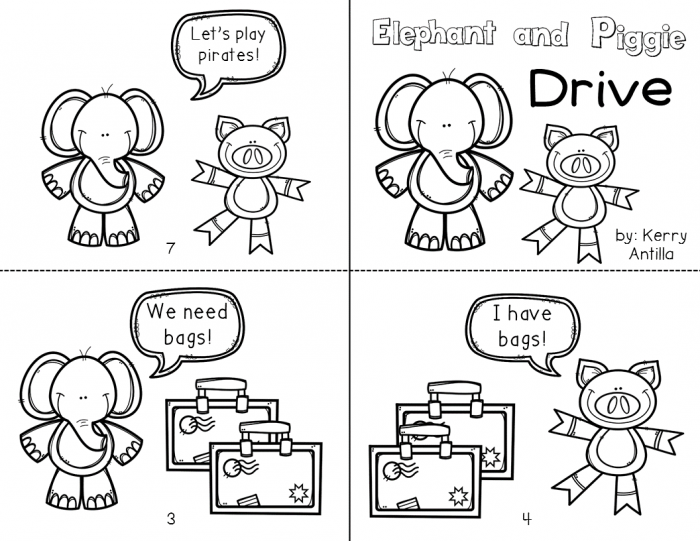 Elephant And Piggie Extension Activities For Lets Go For A Drive