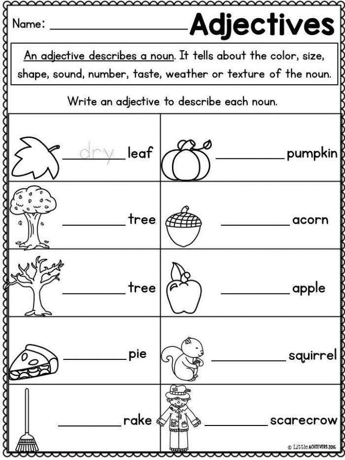 Get Into Grammar: Descriptive Words #1 Worksheets 99Worksheets