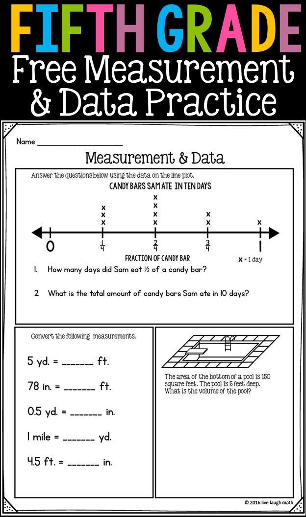 Fifth Grade Math Review  Free Worksheets