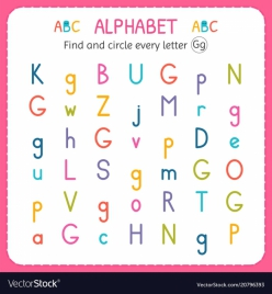 """Find The Letters: """"G"""""""