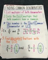finding common denominators anchor 7