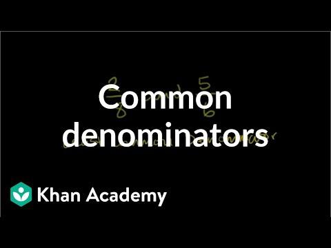 Finding Common Denominators Video