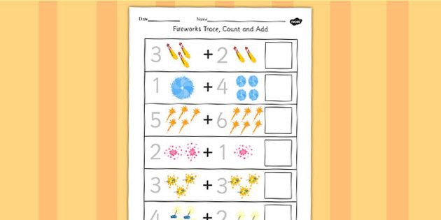 Firework Trace Count And Add Worksheet