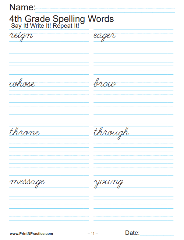Fourth Grade Worksheets  Math  Writing  Grammar  Phonics  Spelling