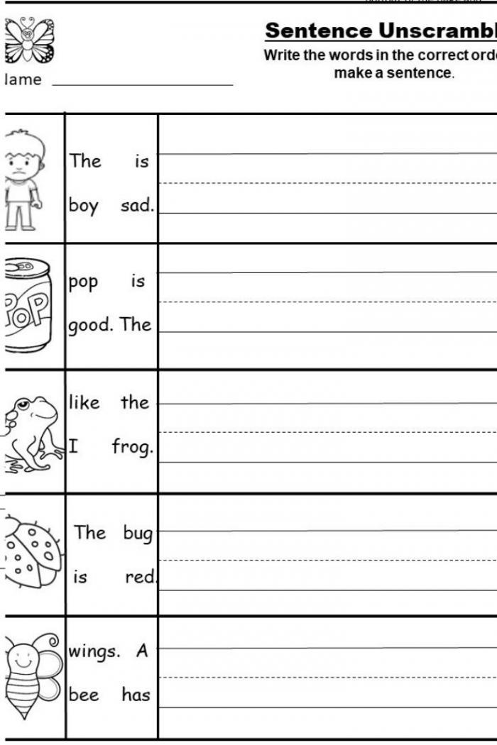 Free Kindergarten Writing Printable In