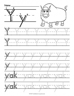 Trace And Write The Letter Y