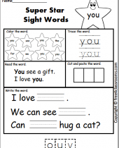 free sight sight word practice you  freeclassrooms 7