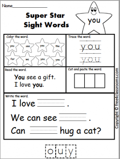 Spruce Up The Sight Word: You