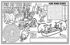 Farm Activity Placemat