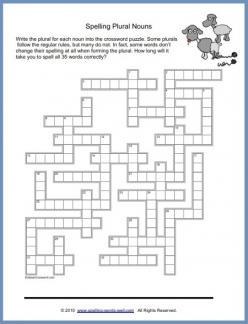 Plural Nouns: Final Letter Clues