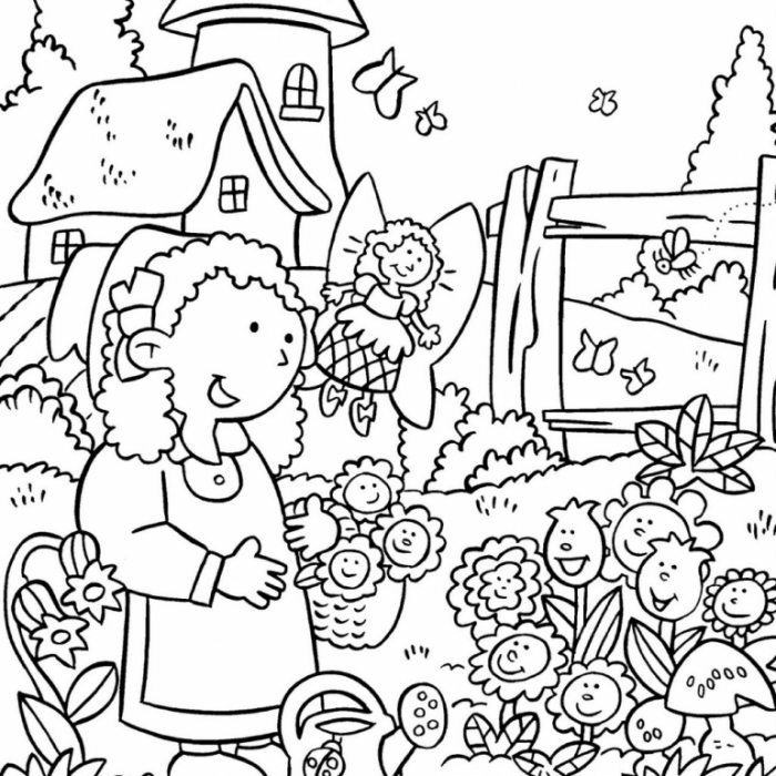 Flower Garden Coloring Pages   Garden coloring pages, Colorful ...   700x700