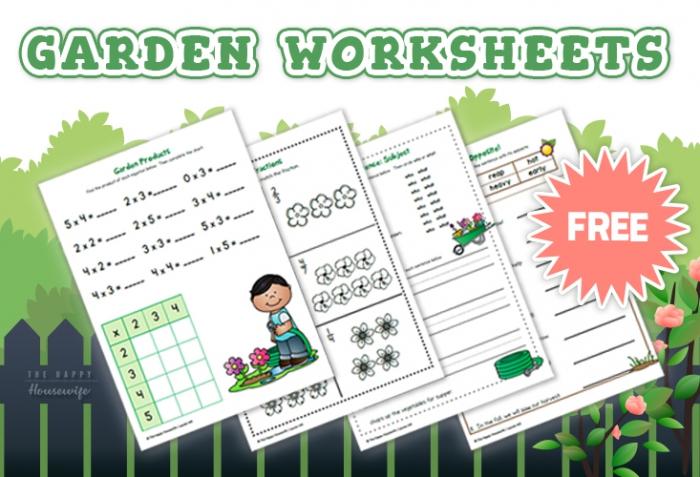 Garden Worksheets Free Printables