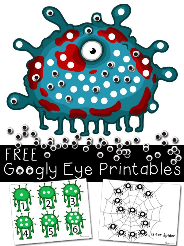 Halloween Activities   Printables With Googly Eyes