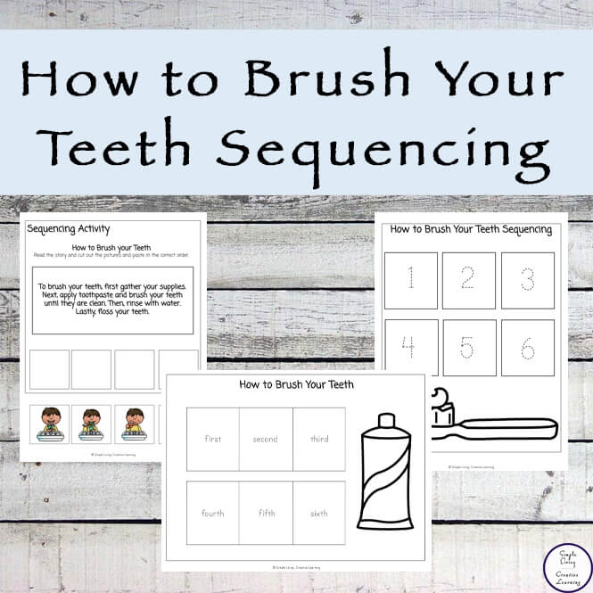 How To Brush Your Teeth Sequencing Pack