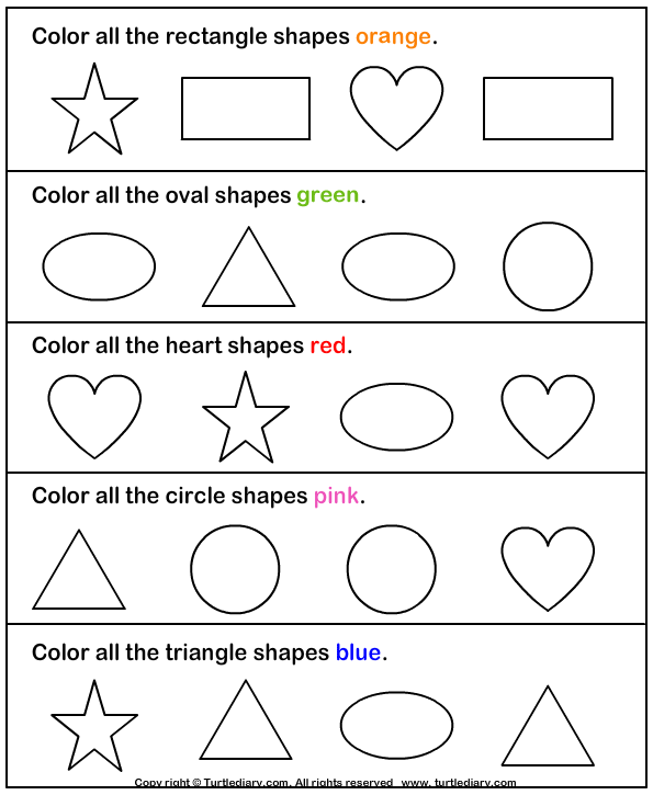 Identify The Shapes Worksheets 99Worksheets