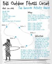 kids outdoor fitness circuit summer activity game 9